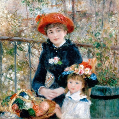 design voor rivasono akoestisch wandpaneel sch po xl pierre auguste renoir the two sisters on the terrace detail